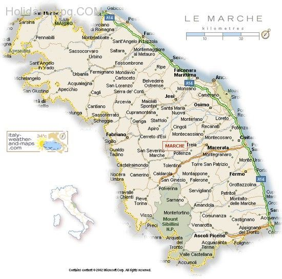 Nice Map Of Italy Le Marche Holidaymapq In 2019 Map Of
