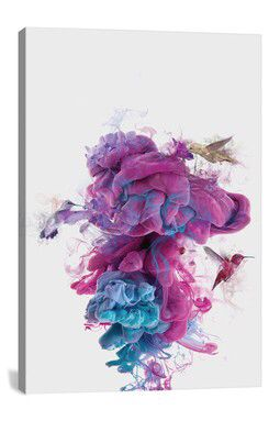 Hummingbirds Ink by D  niel Taylor Canvas Print