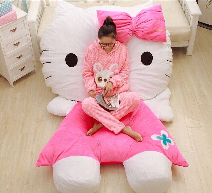 hello kitty bedroom furniture. Pikachu Bed Hello Kitty Furniture Floor Chair Beanbag Tatami Cadeira Taburete Bedroom