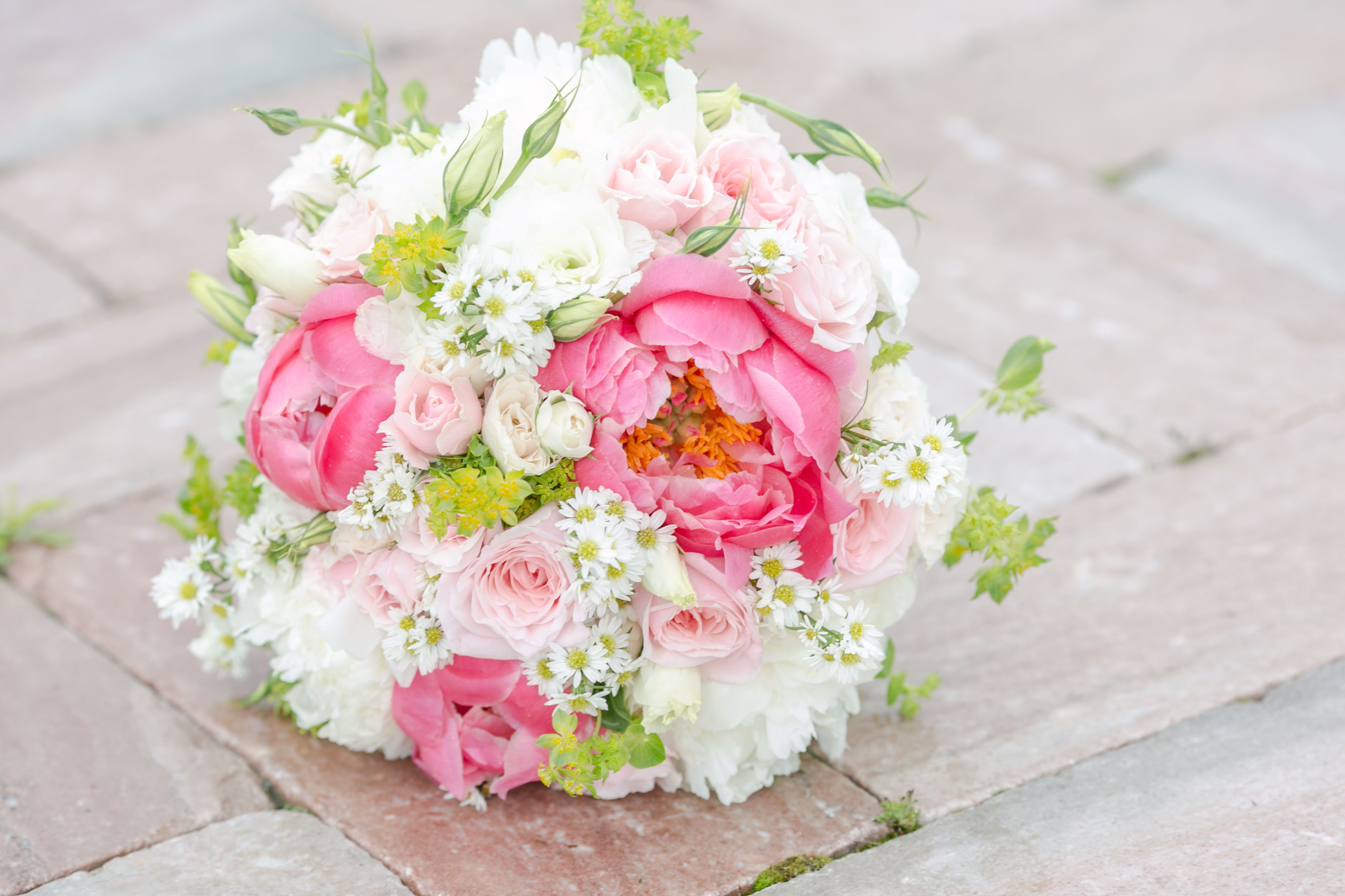 Coral and Ivory bridal bouquet - Blush Roses - Southern Elegant ...