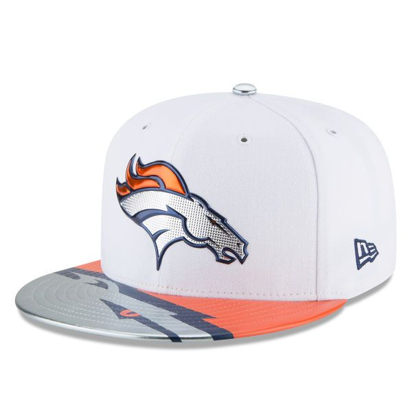 newest collection 51838 db820 Youth New Era White Denver Broncos 2017 NFL Draft Official On Stage 59FIFTY  Fitted Hat