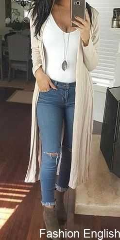 Beige Long Casual Cardigan Fall Outfits,Summer,Work,Casual