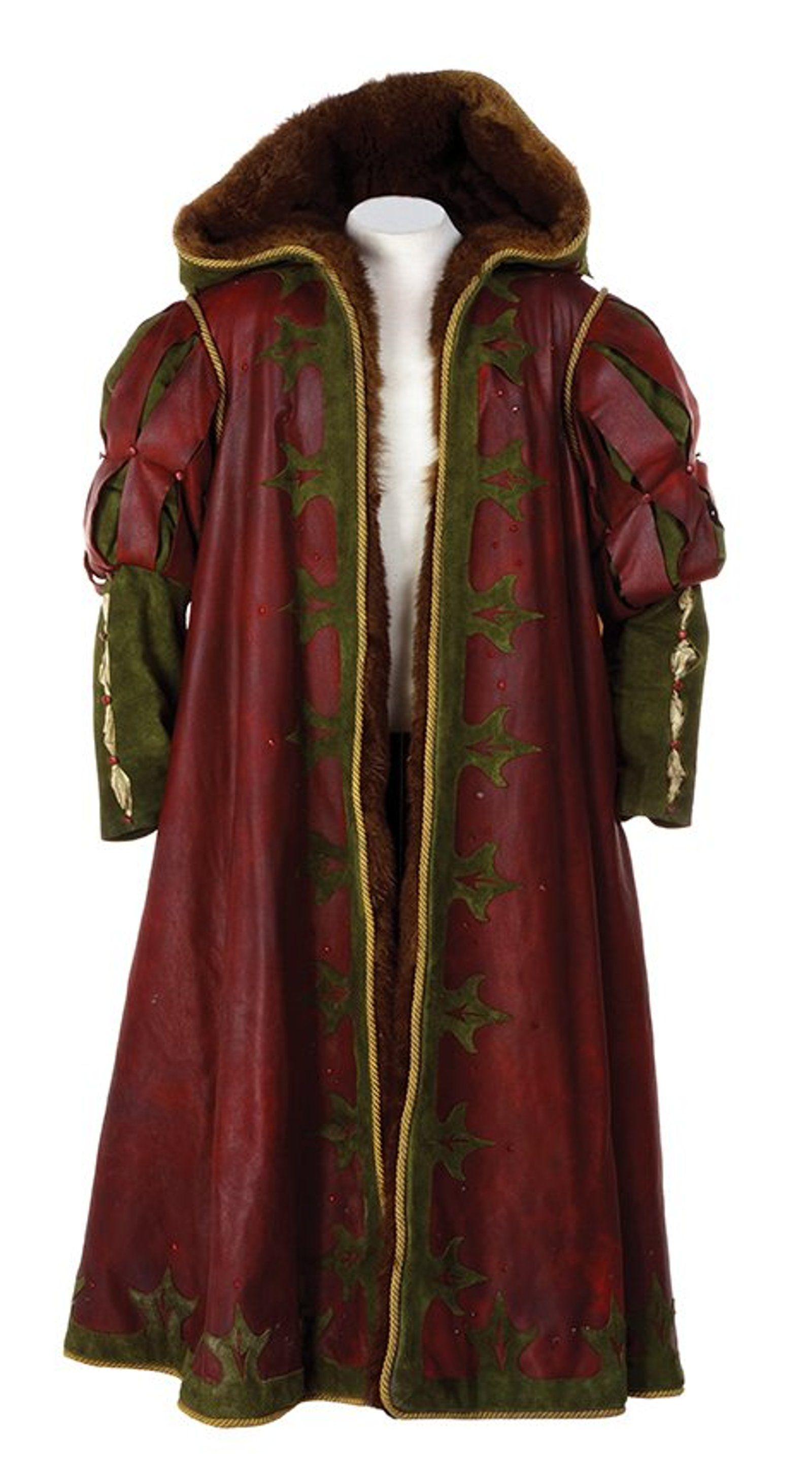 Father Christmas leather and fur coat. Narnia costumes