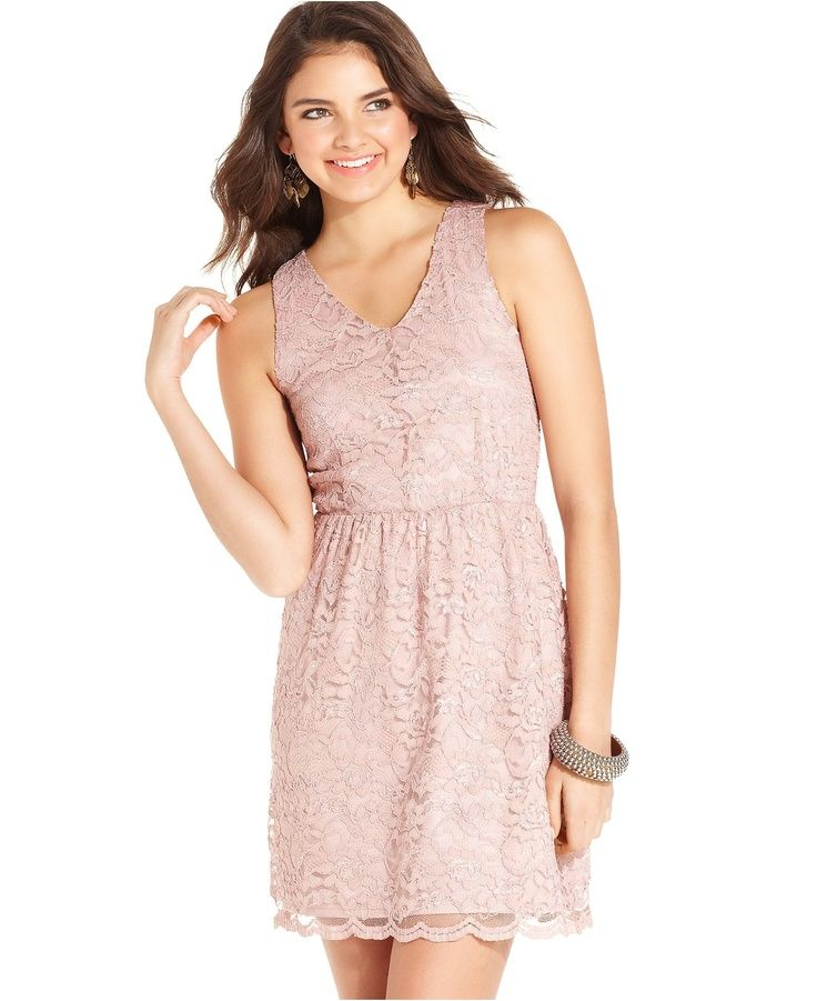 Nice Junior Bridesmaid Dresses American Rag Juniors Dress, Sleeveless Lace A-Line - - Macy's... Check more at http://24myshop.ml/my-desires/junior-bridesmaid-dresses-american-rag-juniors-dress-sleeveless-lace-a-line-macys/
