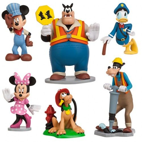 5094357cc82 Disney Mickey Mouse Clubhouse 6-Piece Figurine Playset Cake Toppers ...