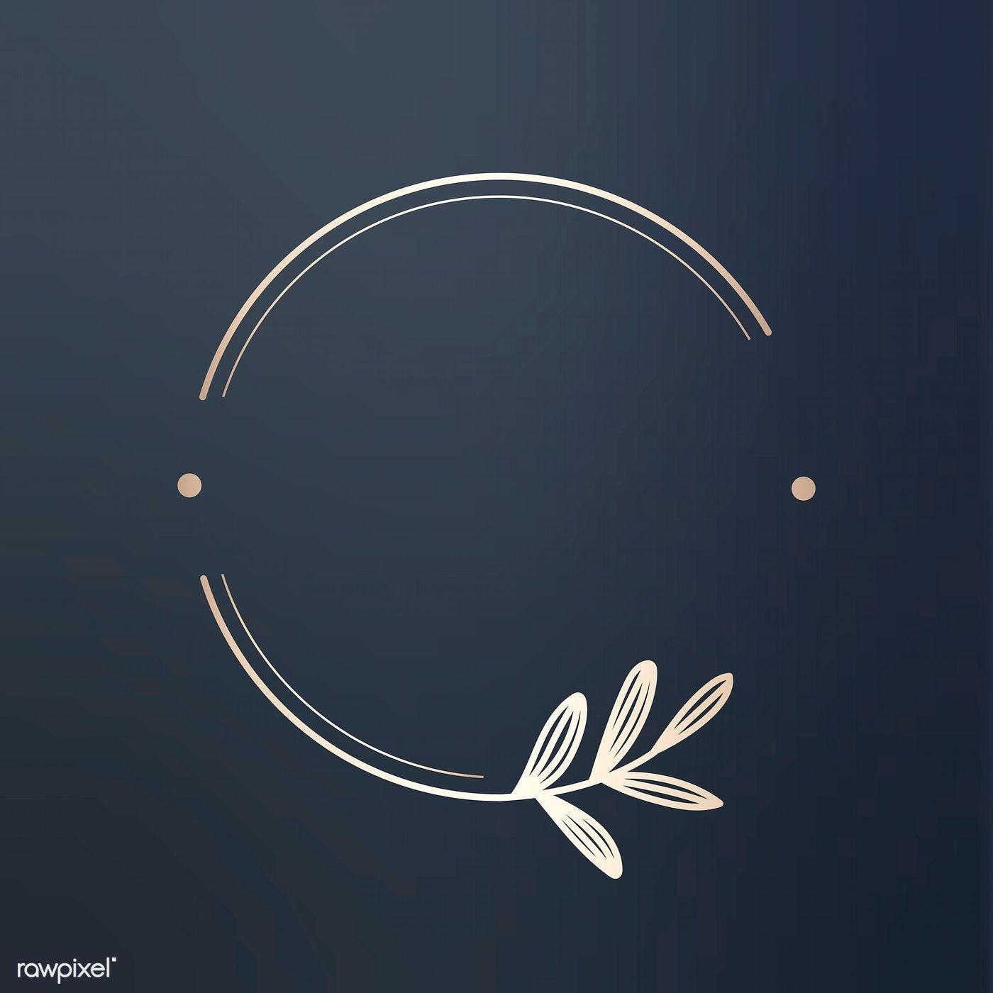 Download premium illustration of Round floral design logo vector 679788