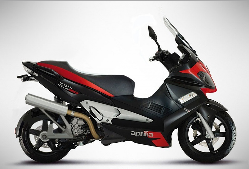 Aprilia has present new SR Max model for 2013 year with 300 ccm and 22 horse power. This motorcycle are available only in black and white color.   Model:Aprilia SR Max 300 Year:2013 Category:Scooter Displacement:278.00 ccm  Engine type:Si