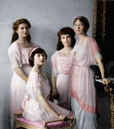 The daughters of Czar Nicholas II ( Olga, Tatiana, Marie, and Anastasia)
