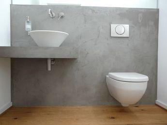 Beton Cire Toilette In Betonoptik In 2020 Beton Badezimmer