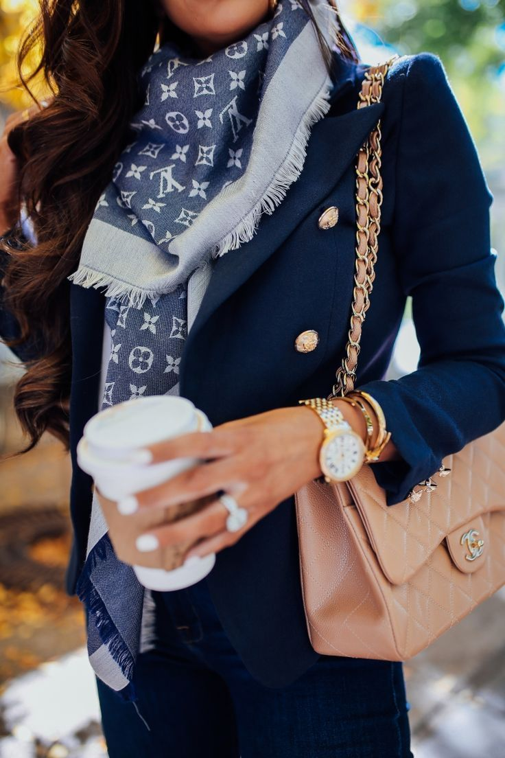 Photo of Louis Vuitton Wende-Schal Herbst-Outfit-Idee, Michele Watch Gold, Herbstmode …