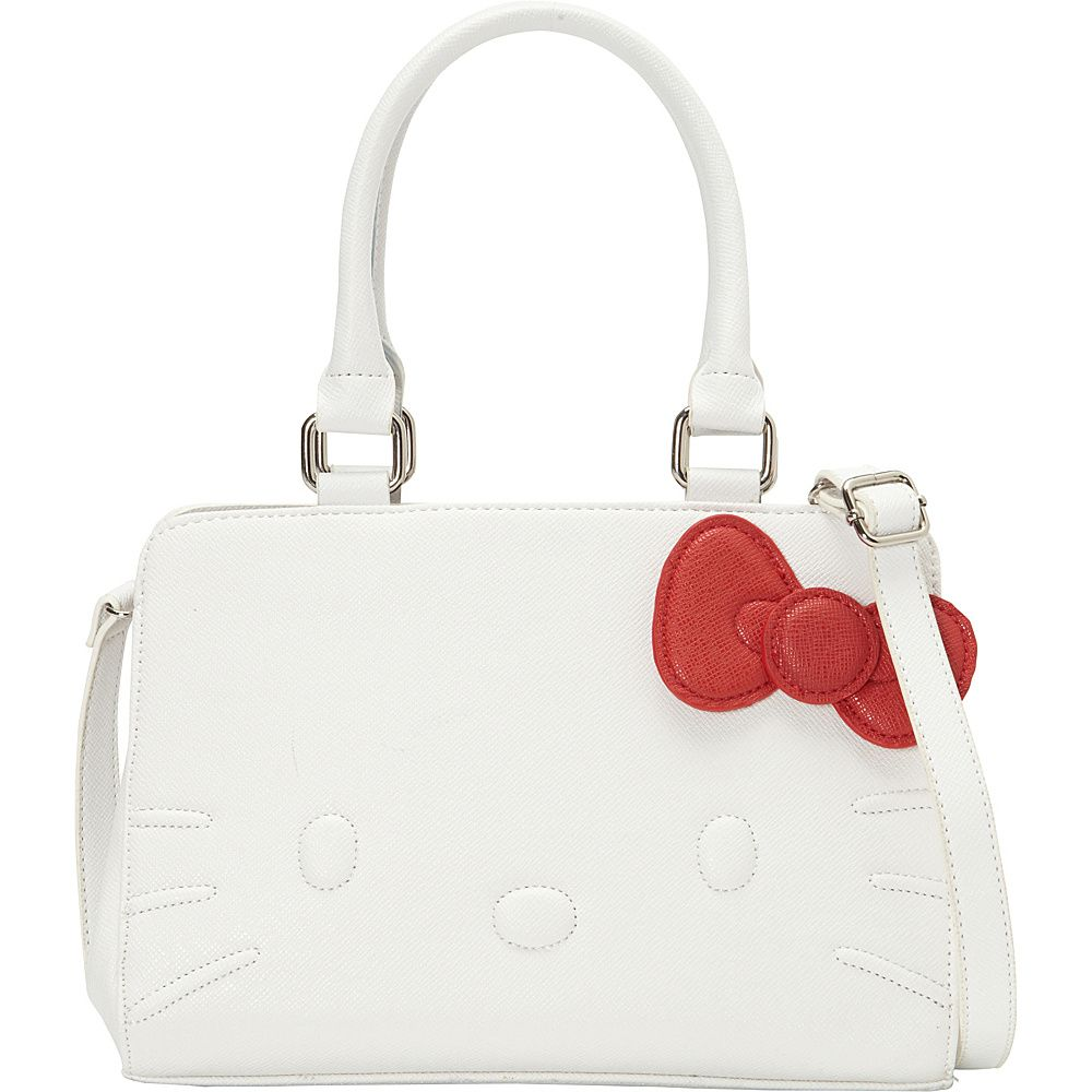 3e86bc09d Loungefly Hello Kitty White Quilt Walking Stitch Face Bag White - Loungefly  Manmade Handbags
