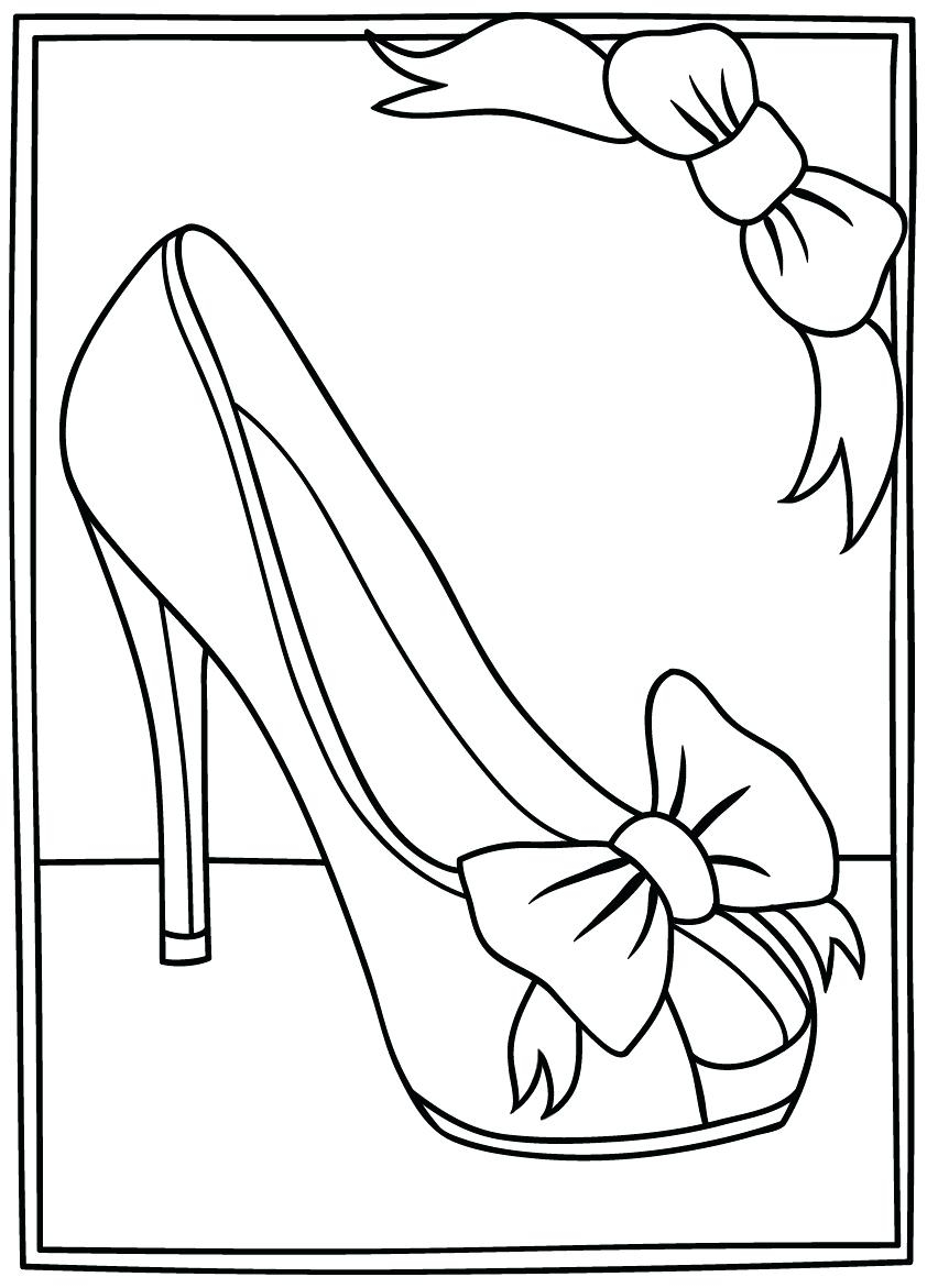 High Heel Drawing Template At Paintingvalley Explore Inside High Heel Template For Cards 11 Template Ideas In 2020 Drawing Templates Shoe Template Coloring Pages