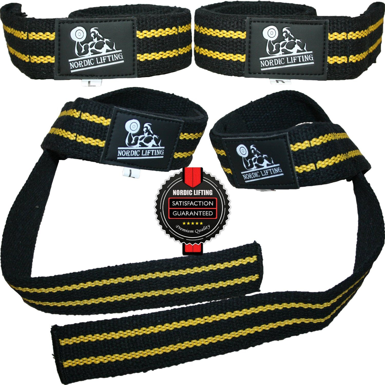 Lifting Straps (2 Pairs/4 Straps) for Weightlifting/Crossfit/Workout/Gym/Powerlifting  by Nordic Lifting $16.97  In Stock