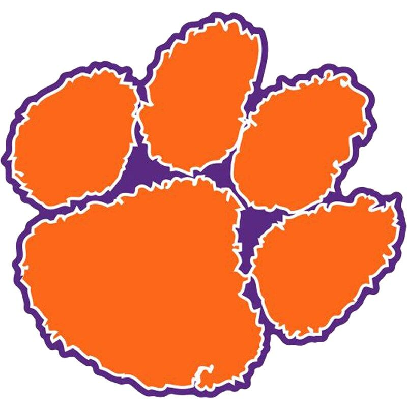 Clemson tigers fathead giant removable decal in 2020