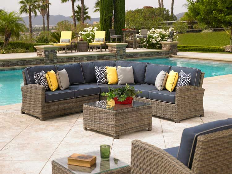 Cheap Outdoor Table And Chairs Part - 34: Sectional Patio Furniture