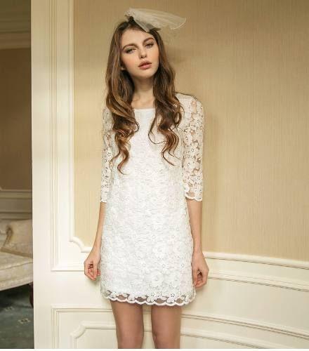Vestido Blanco Encaje Romantico Verano Moda Japonesa Vintage ...