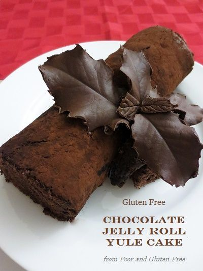 Gluten Free Yule Log Recipe / Chocolate Jelly Roll