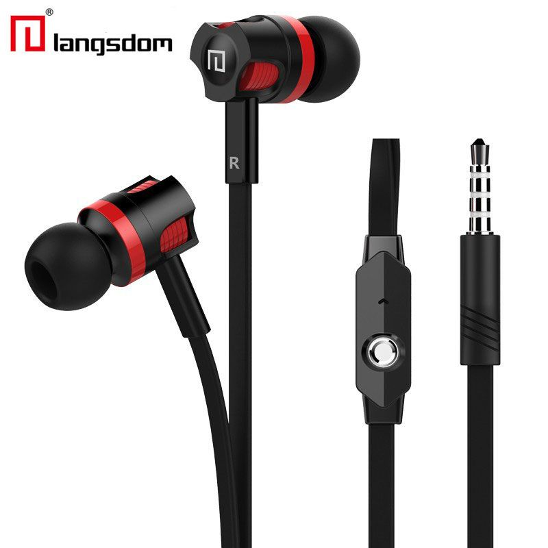 $3.39 (Buy here: http://appdeal.ru/9o0g ) Original 3.5MM Flat Wire Handsfree Stereo HIFI Bass In-Ear Earphones with Microphone for MP3 iPhone Samsung Xiaomi Huawei iPad for just $3.39