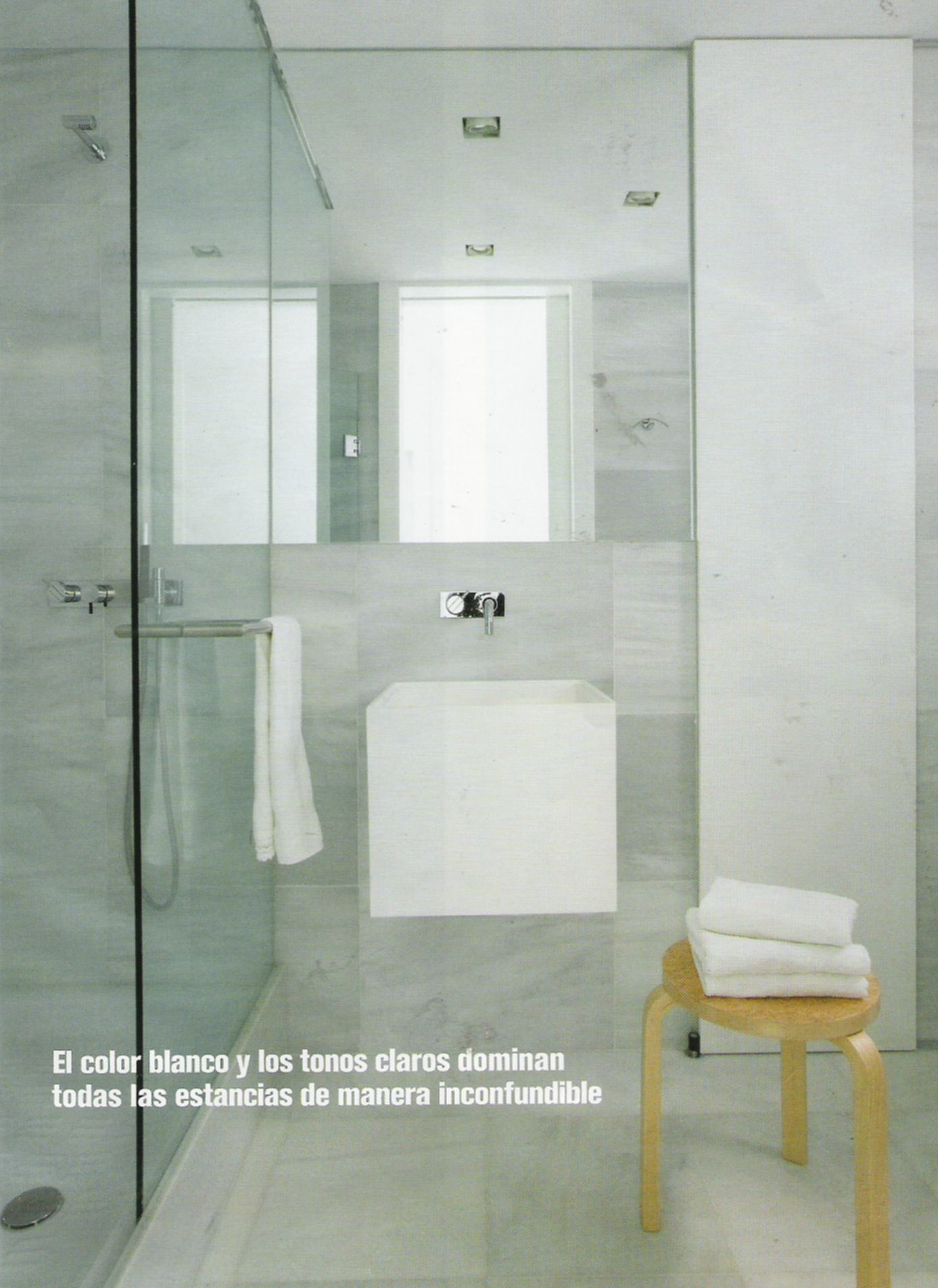 Modern Bathroom With Glass Partition And Sink Glass Partition Wall Space Interiors Dream Bathrooms