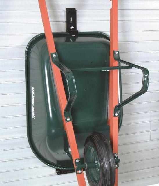 Wheel barrel hooks