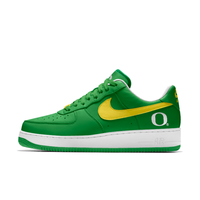 Nike Air Force 1 Low College iD Men's Shoe Oregon Ducks