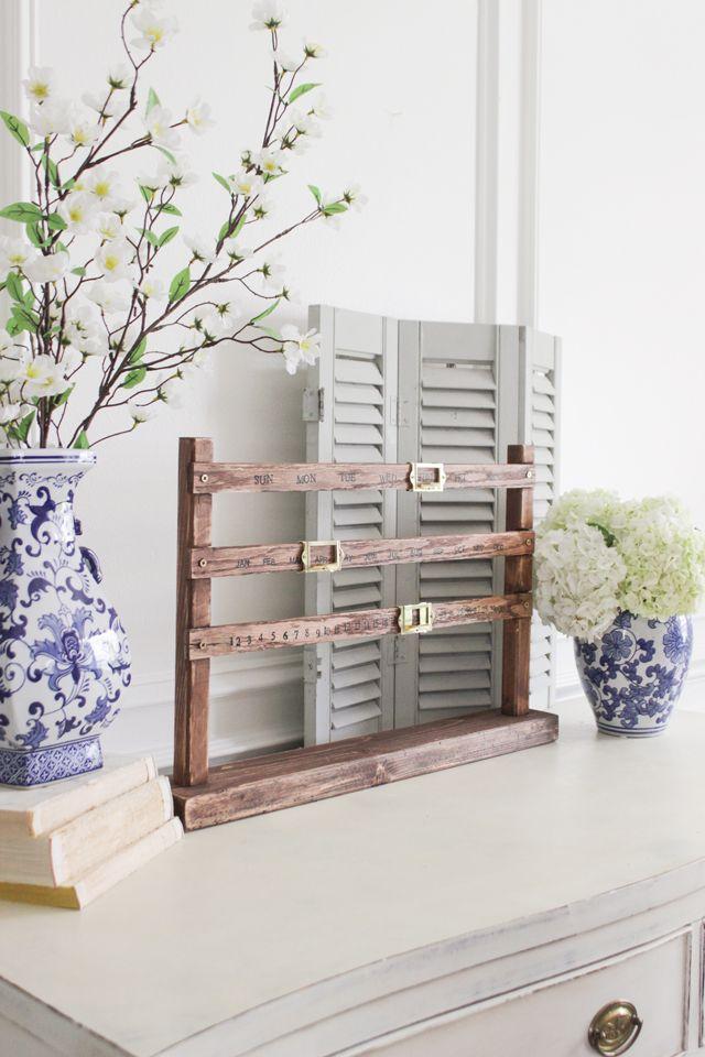 Diy Old Calendar : Diy vintage perpetual calendar wood projects pinterest