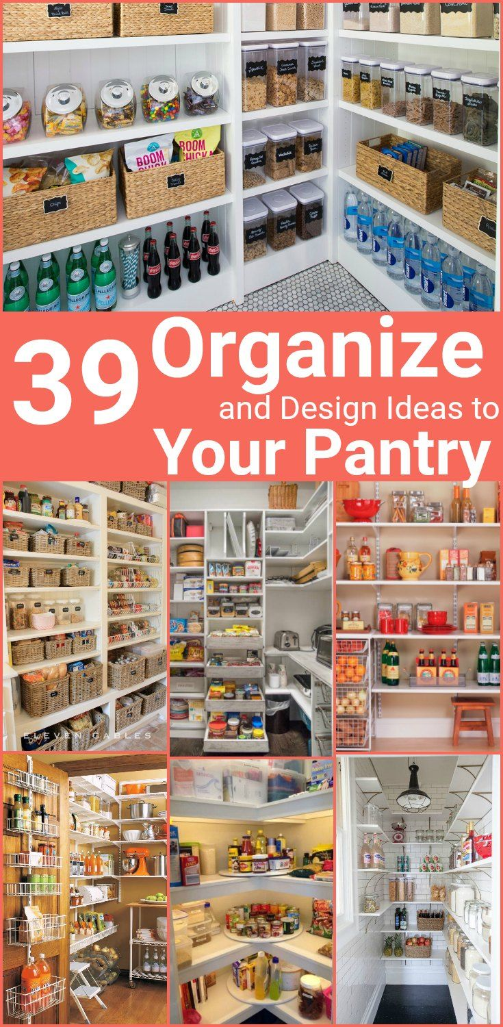 Small Pantry Organizing and Design Ideas