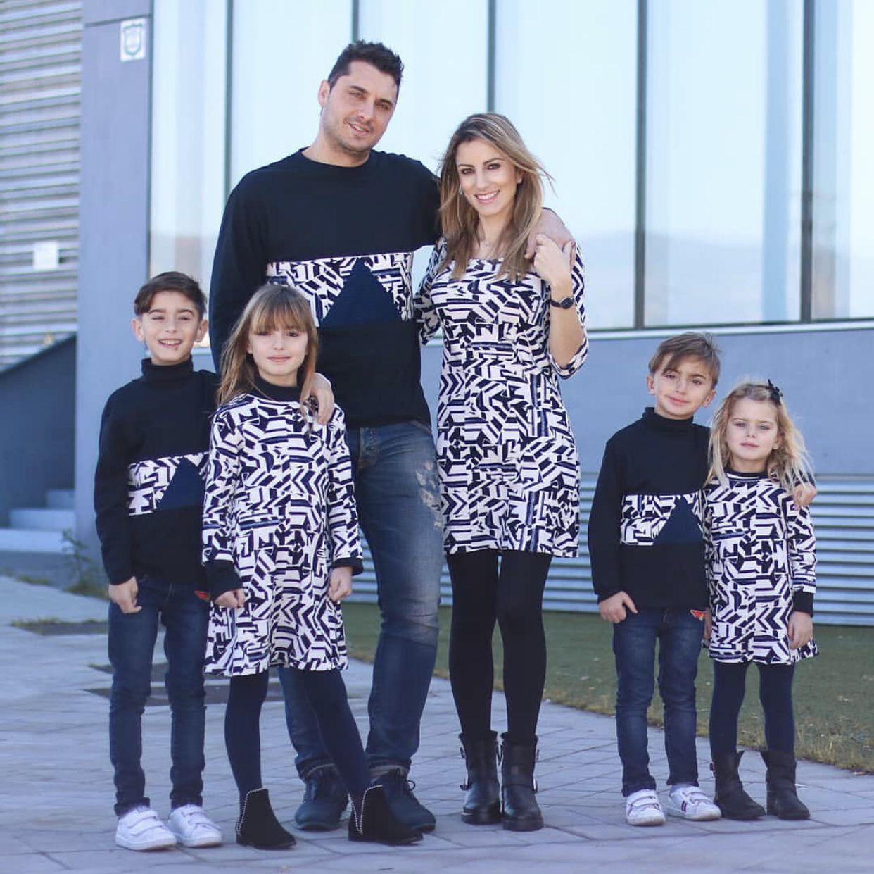 1e604afc9 ... #moda #fashion familia fashion vestir igual, Crazy diseños para toda la  familia moderna #outfits #madreehija #padre #madre #vestidos madre e hijo  niño