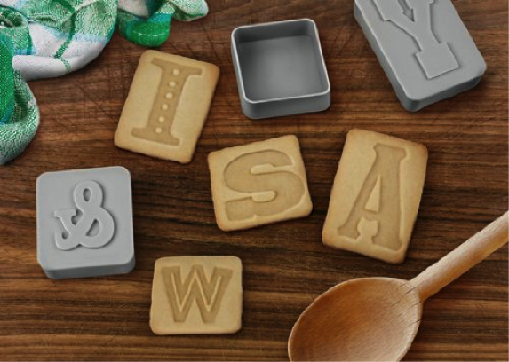 Letterpress Cookie Cutter