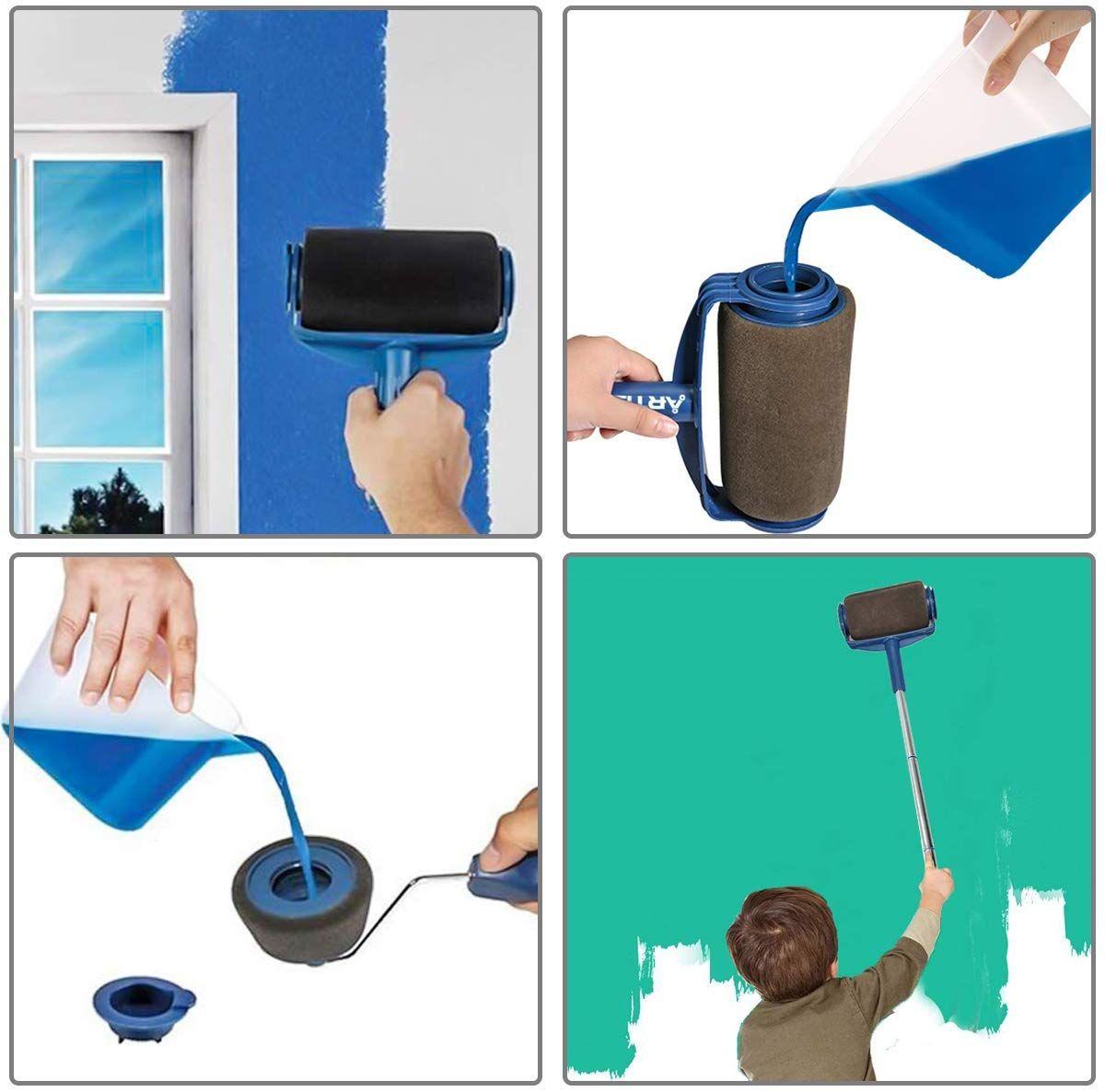 Paint Roller Brush Kit Paint Roller Roller Brush Paint Runner