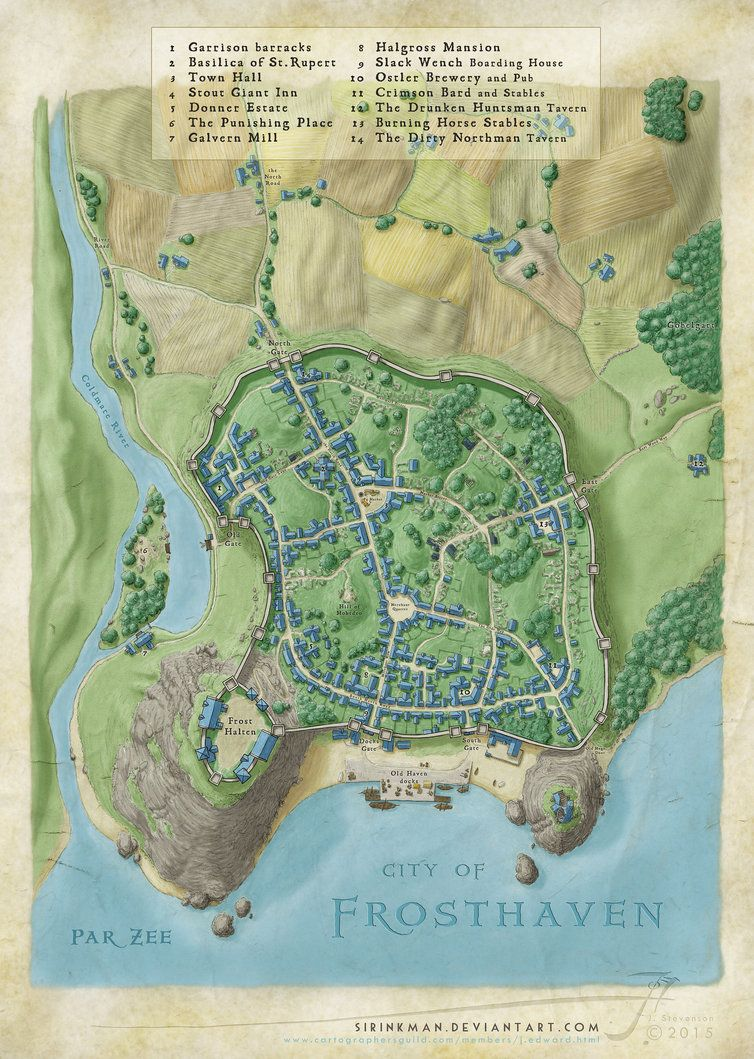 A few days ago a member on the Cartographers Guild website ...