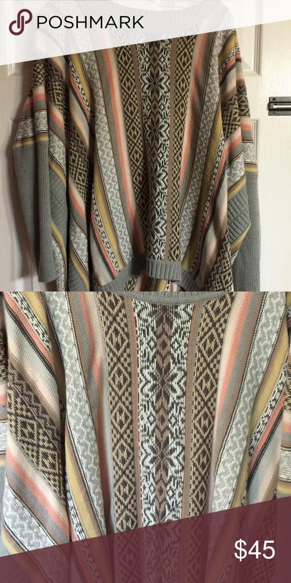 Fair Isle poncho sweater from CAbi medium | D, Fair isles and Sweaters
