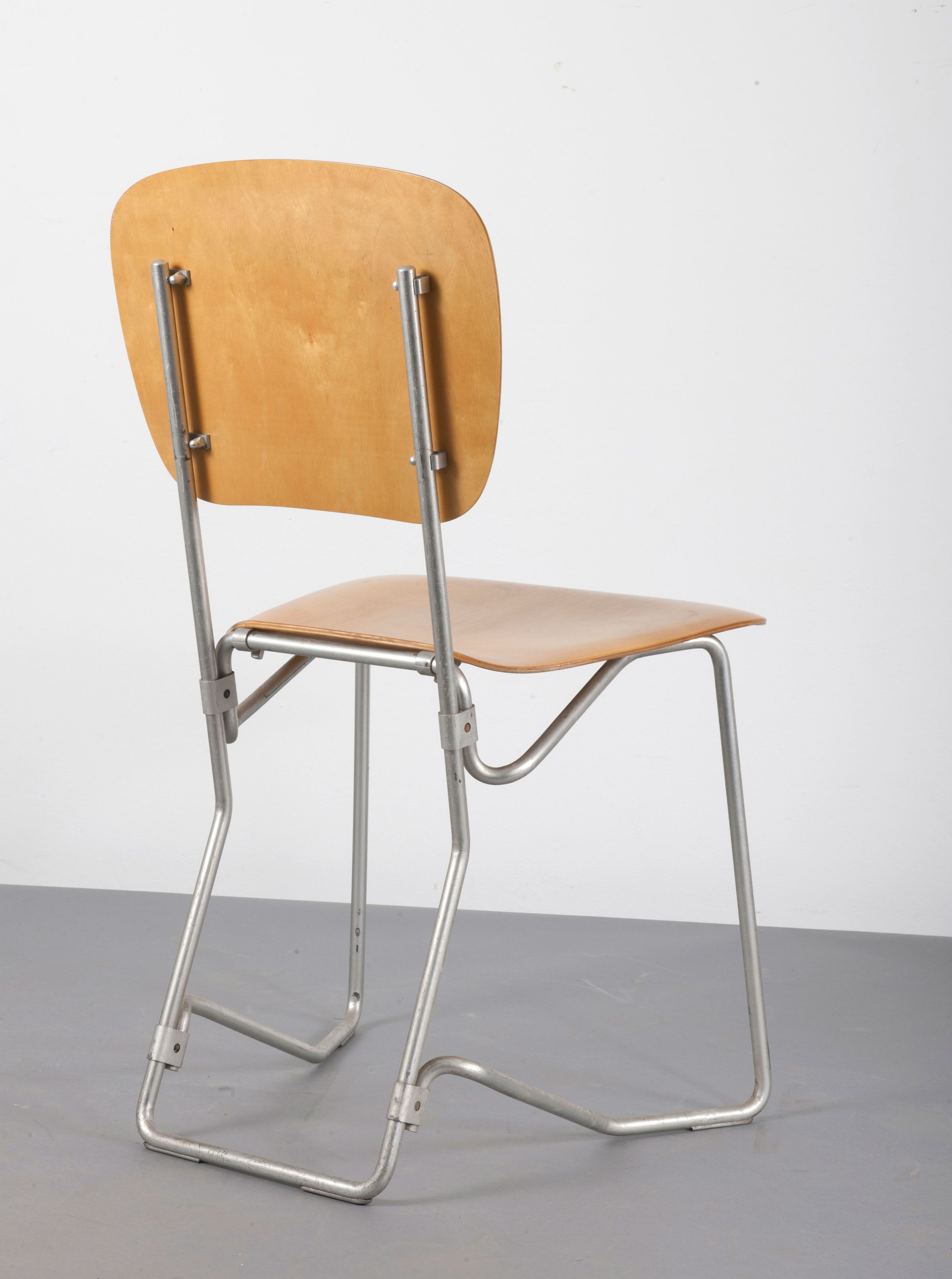 Nice Armin Wirth; Tubular Aluminum And Plywood U0027Aruflexu0027 Folding Chair For  Philip Zieringer Metallwerke Amazing Design