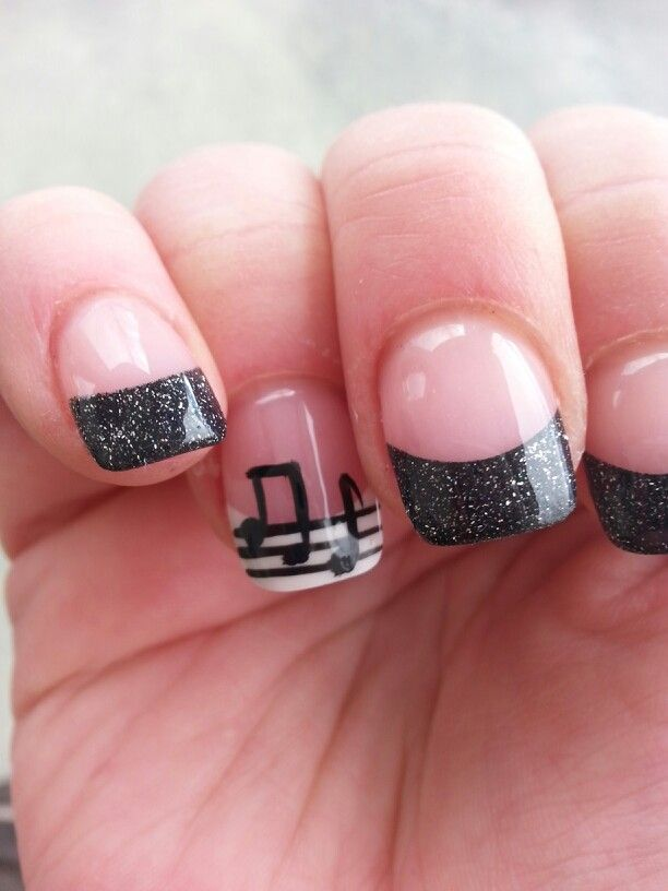 Music Manicure for You to Rock - Pretty Designs. Music Nail ArtMusic Note  ... - Music Manicure For You To Rock Black Nails, Music Nails And Music