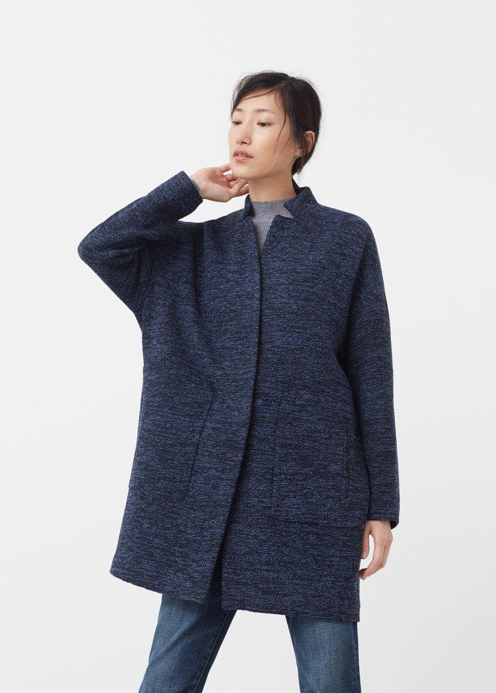 Abrigo lana algodón | MANGO