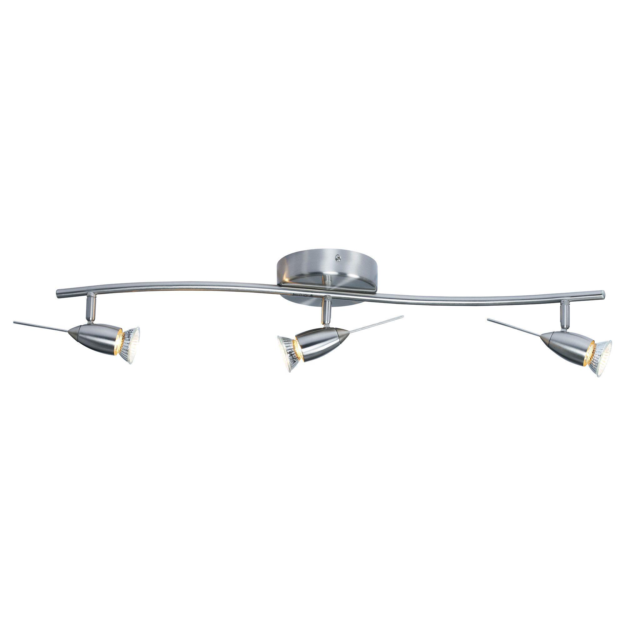 HUSINGE Ceiling track 3 spotlights nickel plated
