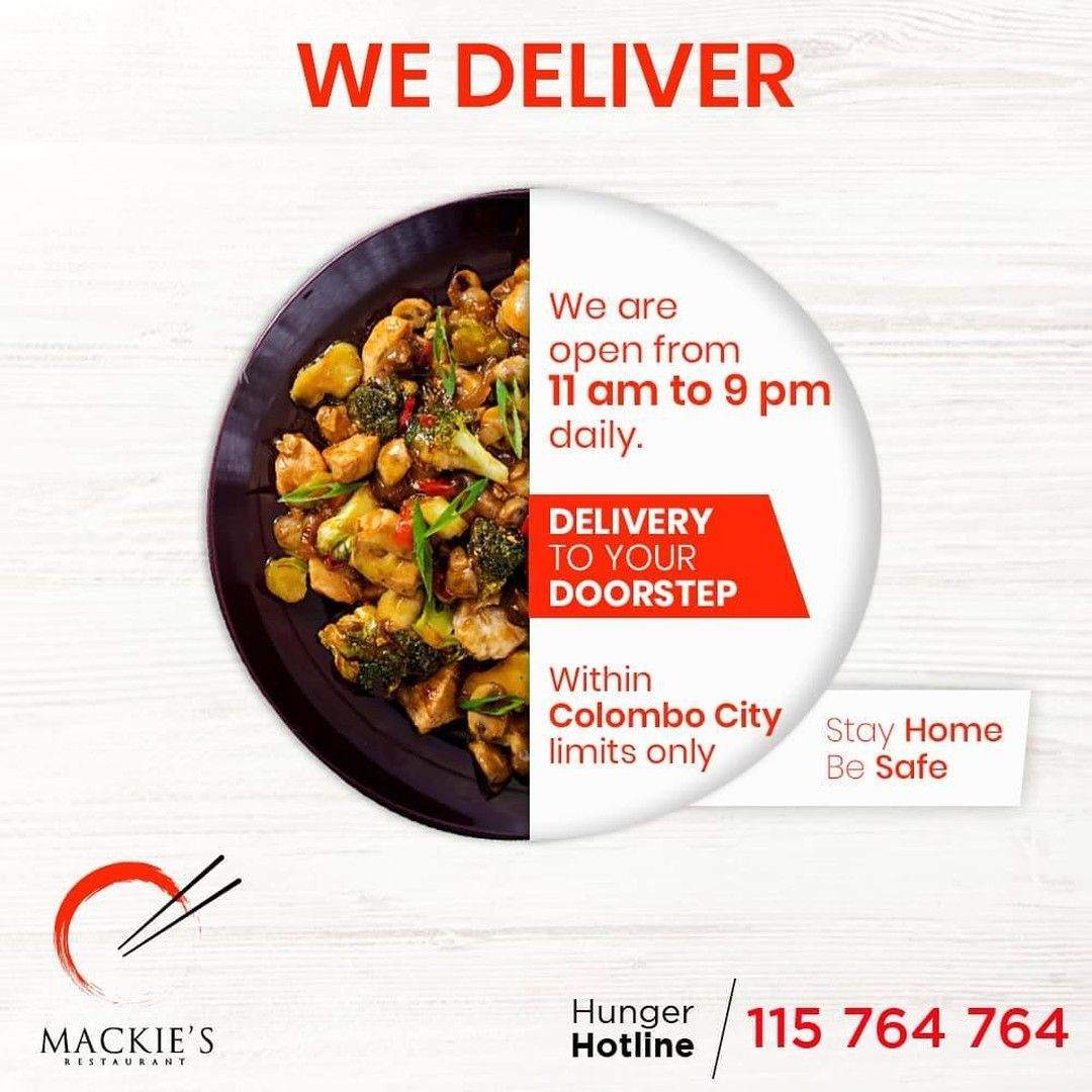 We Will Be Continuing To Deliver Your Favourite Chinese Fusion Cuisine To Your Doorstep Within Colombo Limits And Selected S In 2020 Food Fusion Food Food Photography