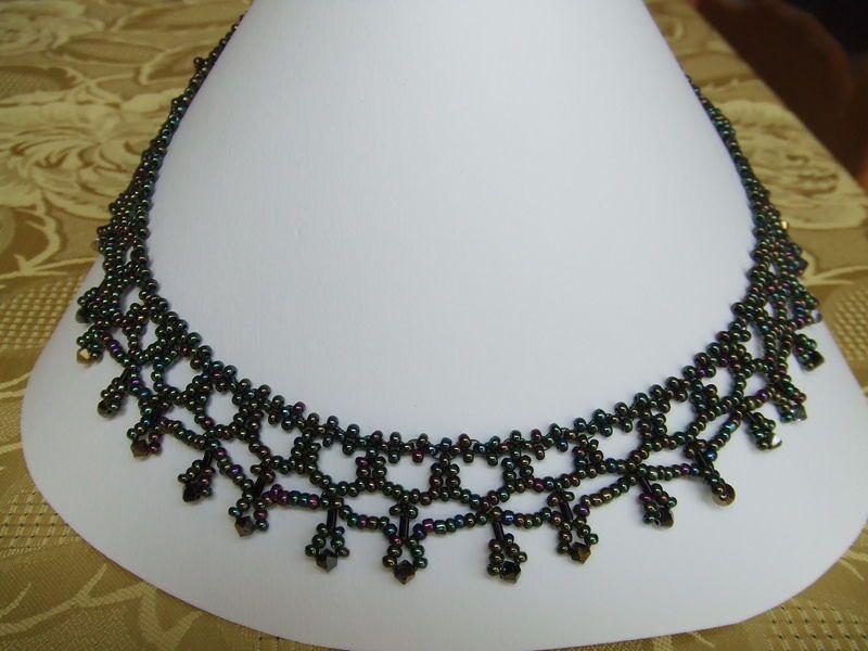 collier tissé en perles de rocaille  | bijoux | pinterest