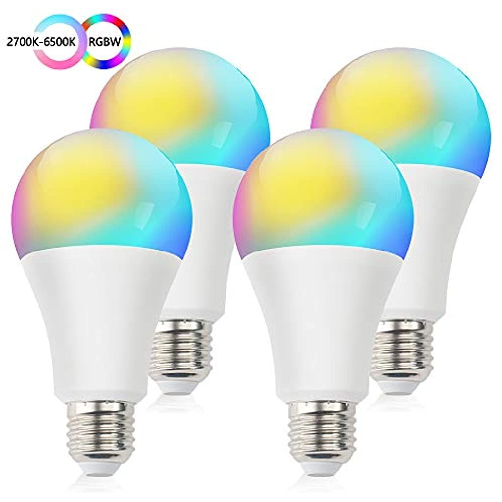 Smart Wlan Led Lampen Gluhbirne Dimmbar E27 Intelligente Multicolor Birne Kompatibel Mit Alexa Echo Google Home Gleichwertige Rgbcw Far In 2020 Led Lampe Gluhbirne Led