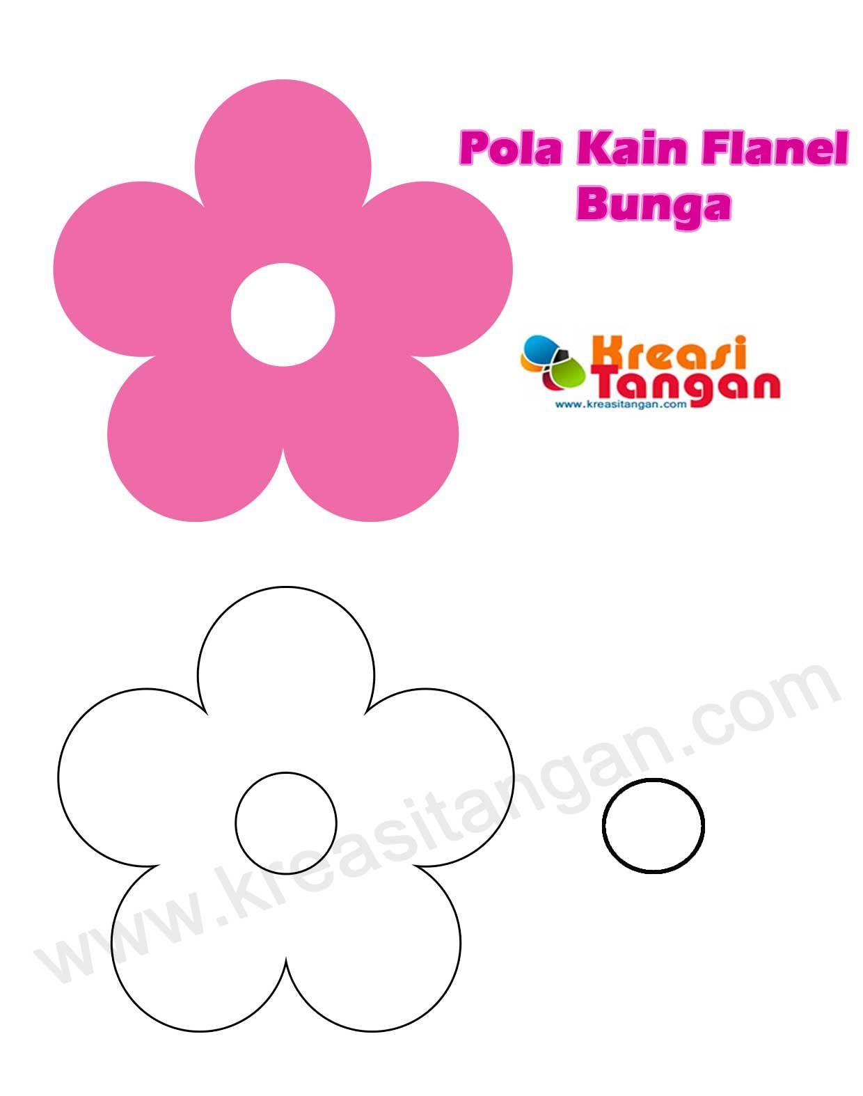 Pola Kain Flanel Bunga Bunga 3 Pinterest Felt Patterns Crafts