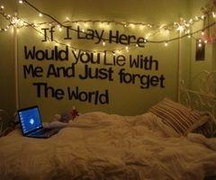 lyrics on the wall. I would do Blink 182 or MCR