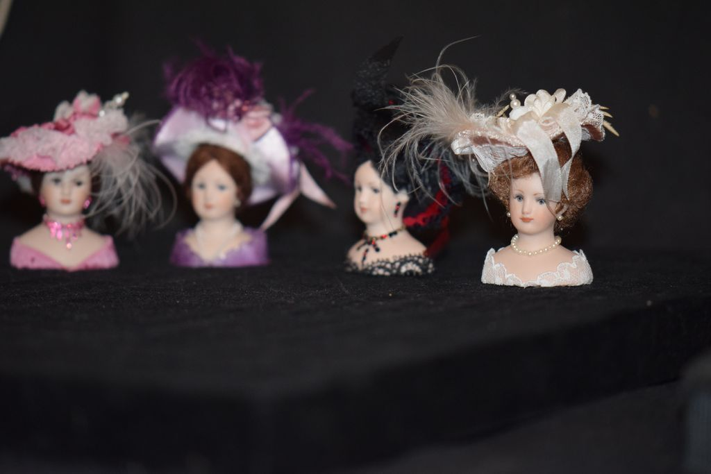 Vintage Doll Miniature Millinery Pat Stevens Hats & Heads Store from oldeclectics on Ruby Lane