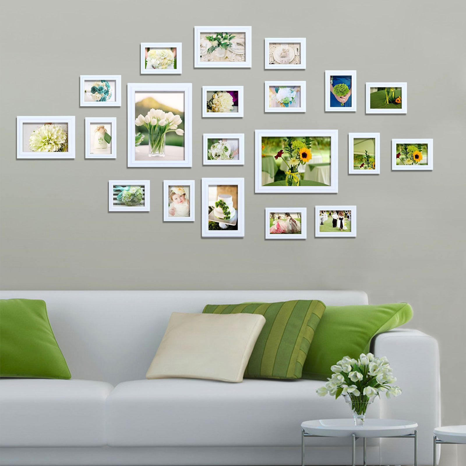 Pin By Li On Multi Picture Photo Frame Frames 20 Pieces White Wall