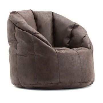 Big Joe Milano Bean Bag Chair Leatherish Adults And