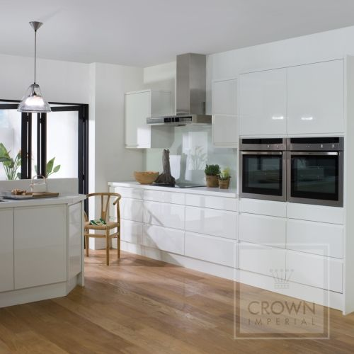 Image Result For What Flooring With White Gloss Kitchen Kitchens