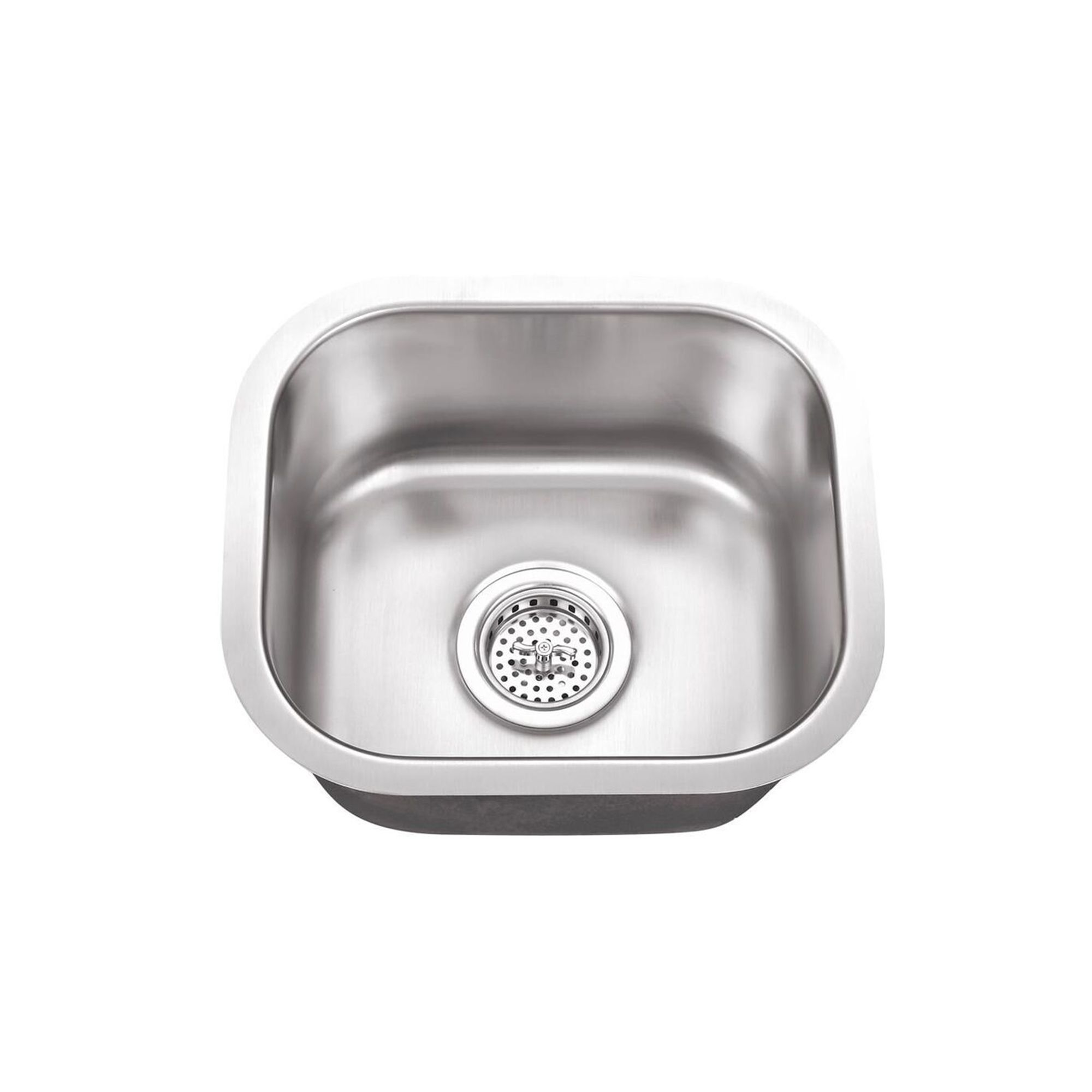 Cahaba Premium Undermount 14 1 2 In X 13 In Single Bowl Small Stainless Steel Bar Sink Stainless Steel Bar Double Bowl Kitchen Sink Bar Sink