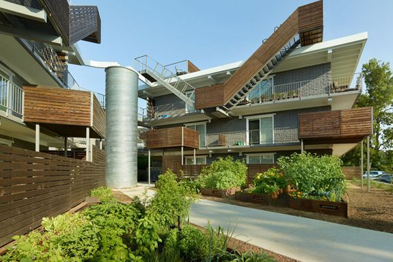 Wedge Courtyard Eco Housing Sustainable Architecture Architecture Residential Building Design