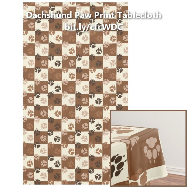 coffee and cream checkered paw print pattern tablecloth | nailed it ...