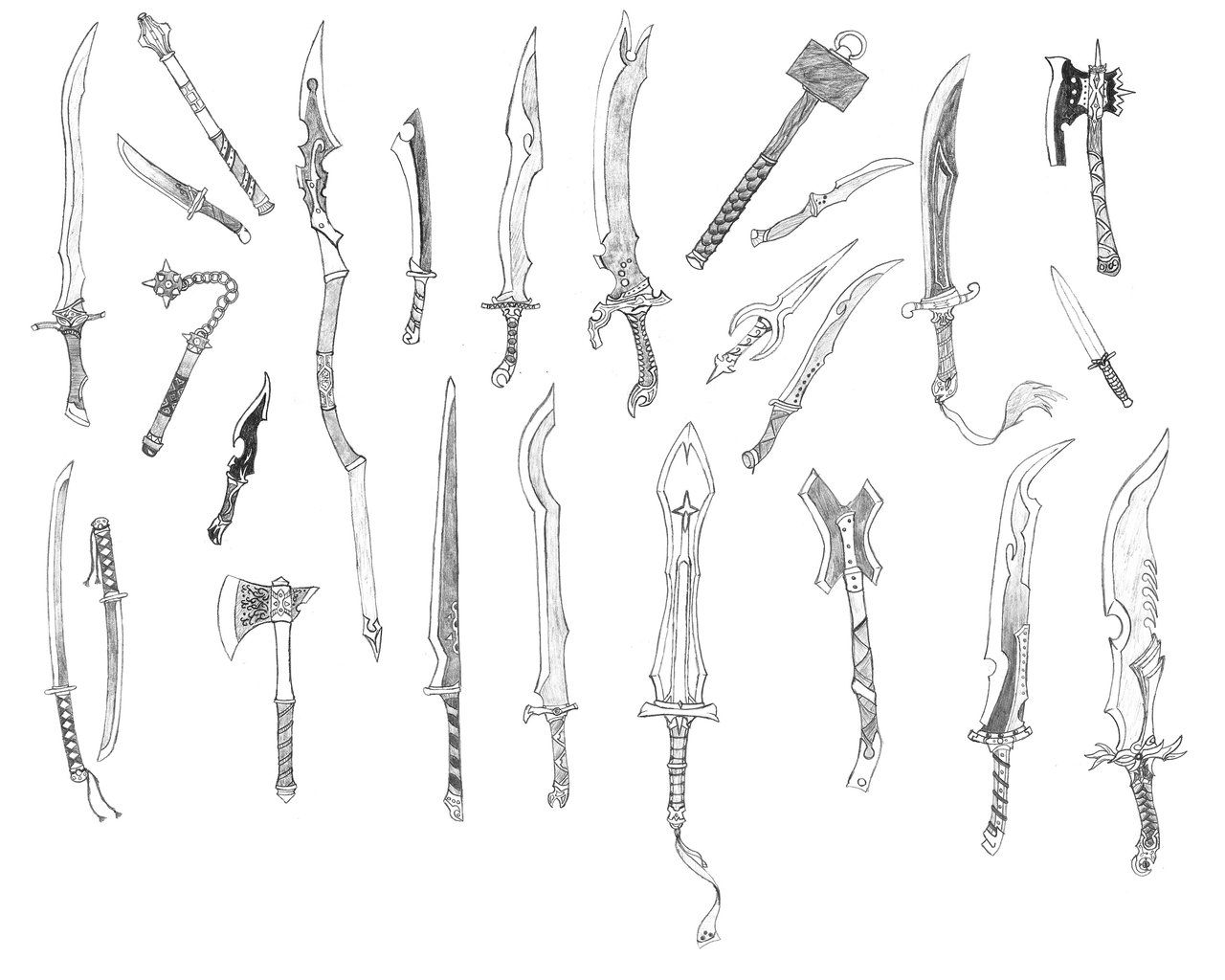 random weapons 3 by bladedog deviantart com on  deviantart