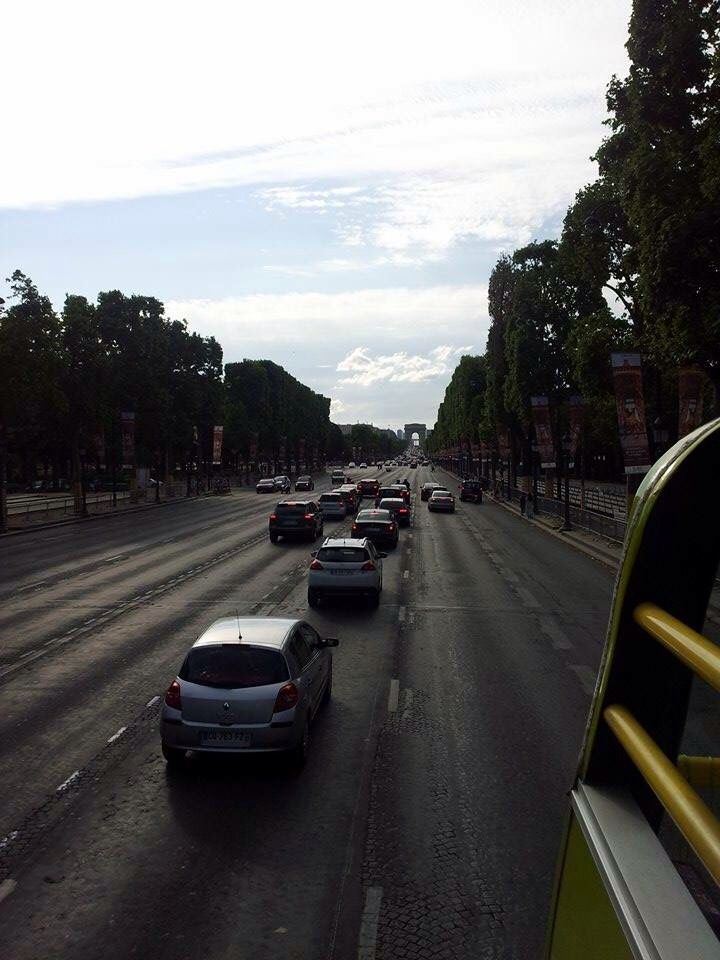 Main street in Paris